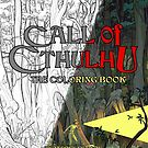 Call of Cthulhu The Colouring Book Split Cover - Art by Andrey Fetisov by Chaosium