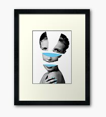 Blue Girl Graphic Framed Print
