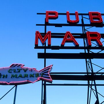 Fish and Market sign. by Fergyphotos