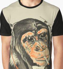 Circus Series Smoking Chimp With headphones Graphic T-Shirt