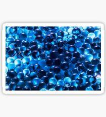 Cool Blue Graphic Pattern Sticker