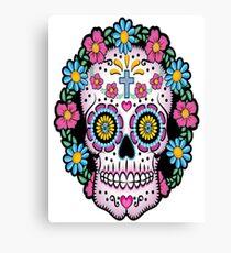 Dia de los Muertos Sugar Skull Canvas Print