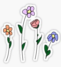 Four Flowers Sticker