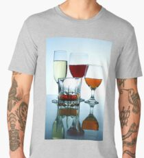 Alcoholic drinks in different glasses Men's Premium T-Shirt