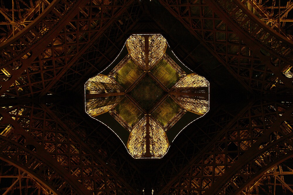 Bottom of the Eiffel tower by Kyle Jerichow