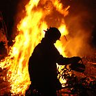 A firey silhouette by Dean Symons