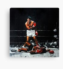 Muhammad Ali Knocks Out Sonny Liston Canvas Print