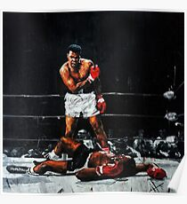 Muhammad Ali Knocks Out Sonny Liston Poster