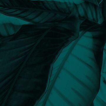 teal leaf by TempusVernum