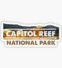 CAPITOL REEF NATIONAL PARK TRAVEL UTAH STATE PARK UNITED STATES Sticker