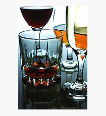 Alcoholic drink in a glass Photographic Print