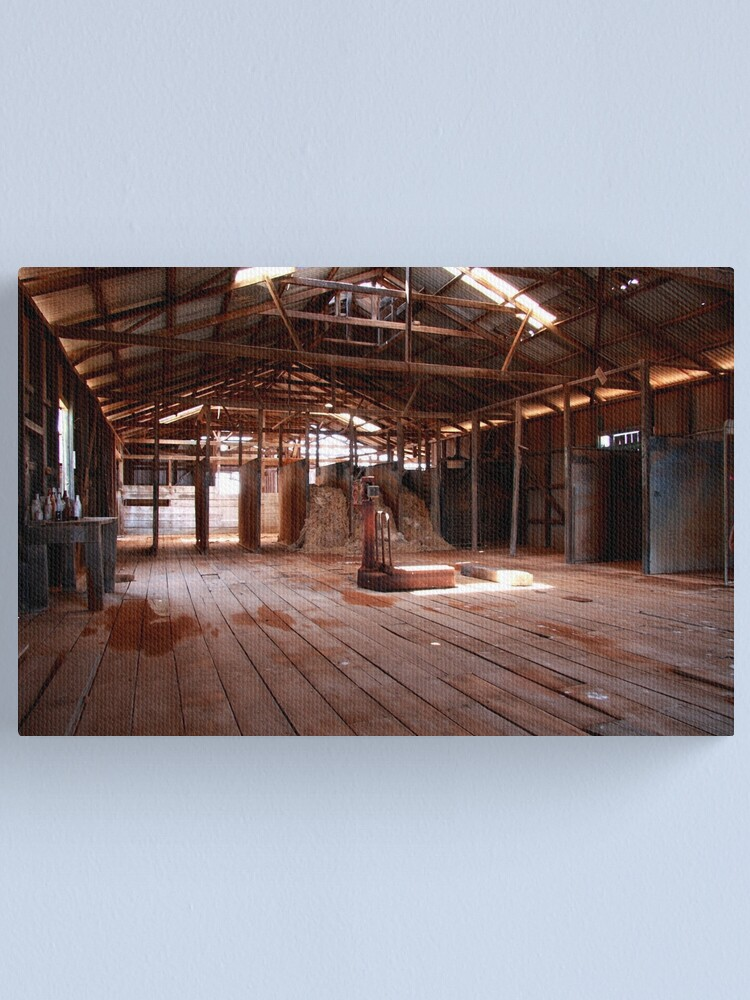 Alternate view of Old shearing shed Canvas Print