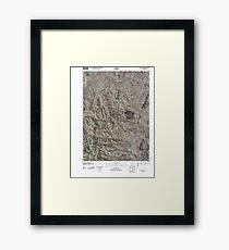 USGS TOPO Map Idaho ID Soldier Cap 20101213 TM Framed Print