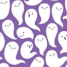 Friendly Ghosts (Purple) by KristyKate