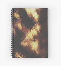 Golden Brown Spiral Notebook