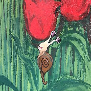 Tulips have a friend  by Dottiepvisker