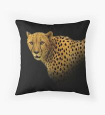 Face to Face with a Magnificent Cheetah Throw Pillow
