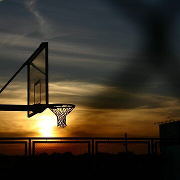 Basketball court and a sunset by junpinzon