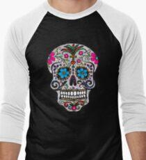 sequin Sugar Skulls Men's Baseball ¾ T-Shirt
