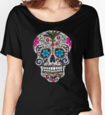 sequin Sugar Skulls Women's Relaxed Fit T-Shirt