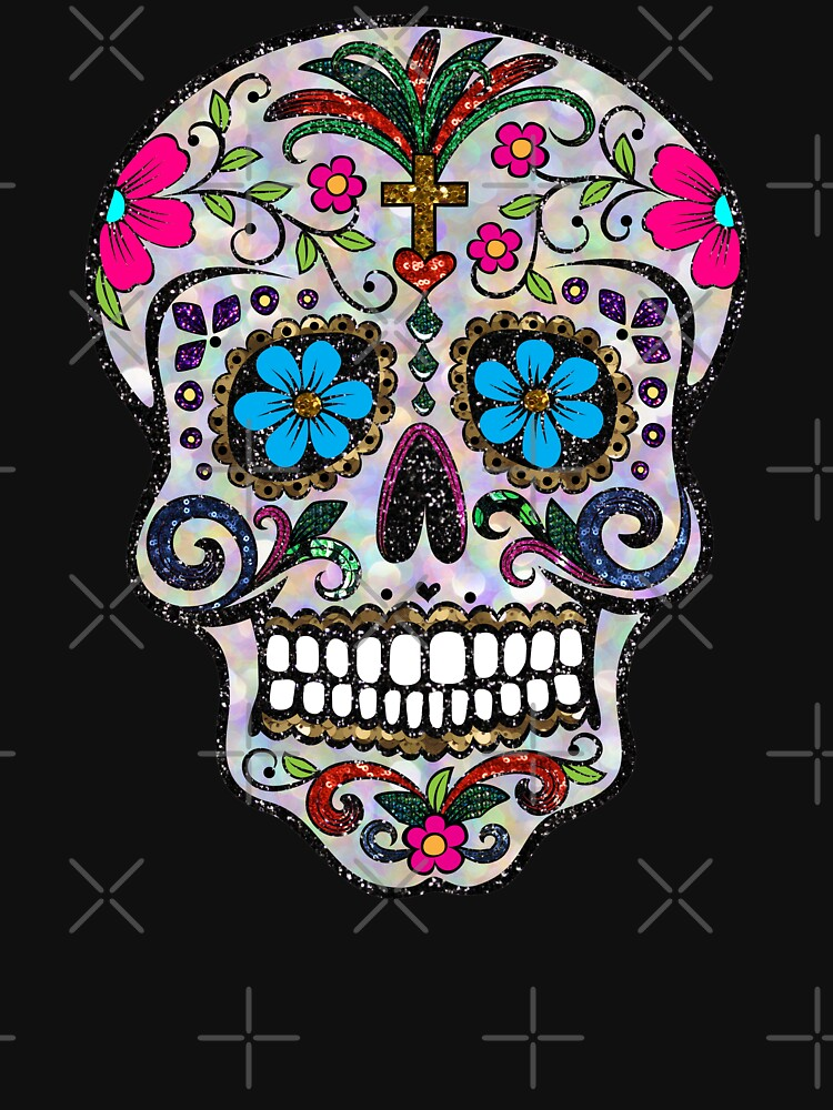 sequin Sugar Skulls by gossiprag