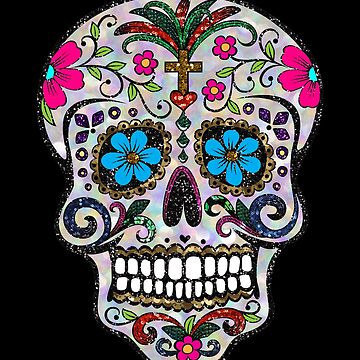 sequin Sugar Skulls by gossiprag
