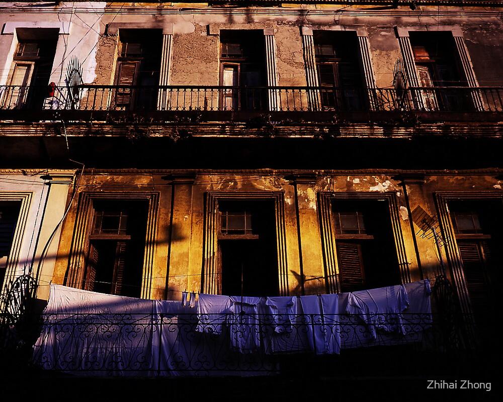 Vintage Balcony In Havana by Zhihai Zhong