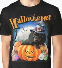 Happy Halloweiner Design Funny Dachshund Halloween Costumes Graphic T-Shirt