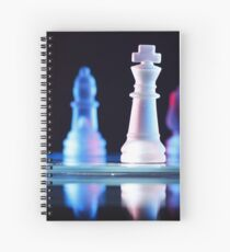 Glass Chess Pieces Spiral Notebook