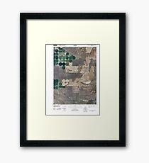 USGS TOPO Map Idaho ID South Chapin Mountain 20101116 TM Framed Print