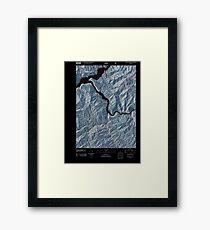 USGS TOPO Map Idaho ID Grape Mountain 20110131 TM Inverted Framed Print