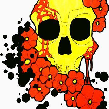 SKULL FLOWERS by OPIETVEIN