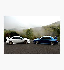 Subarus In The Smoky Mountains Photographic Print