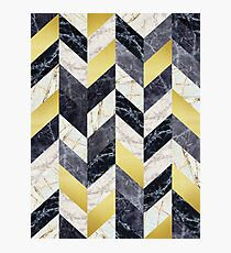 Marble and gold pattern Photographic Print