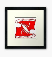 Generic Red Not Converse Framed Print