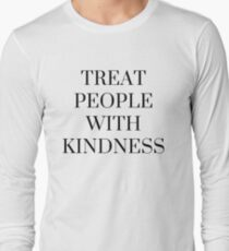 Treat People with Kindness in White Long Sleeve T-Shirt