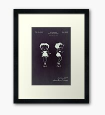 Betty Boop vintage patent from 1932. Framed Print