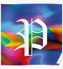 "Alphabet Flower Power ""P"" Poster"