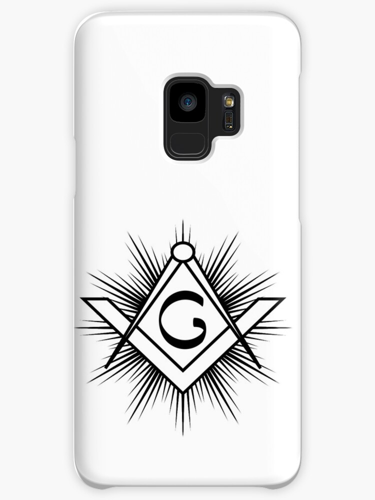 Masonic Symbol Of Square And Compass With Rays And G Letter Cases