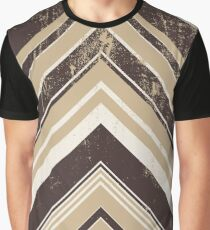 Geometric Geode - Beige/Black Distressed Graphic T-Shirt
