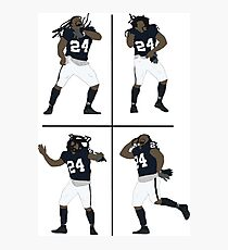 Marshawn Lynch Dancing Photographic Print