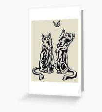 Playful Cats Greeting Card