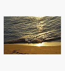 The sea shore at sunset  Photographic Print