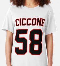 Madonna Sports Tee, Black Slim Fit T-Shirt