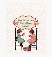 Yarn Lovers Knitting Crocheting Design Photographic Print