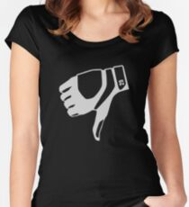 thumbs down shirt Women's Fitted Scoop T-Shirt