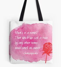 Shakespeare - A rose by any other name Tote Bag