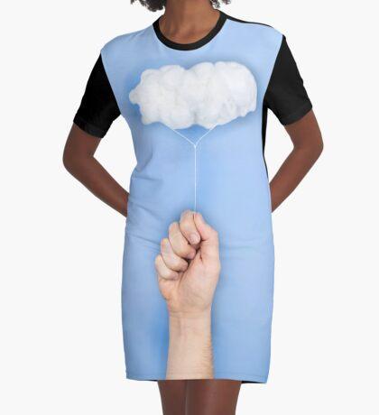 Mein Wolkenballon T-Shirt Kleid