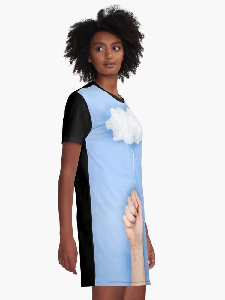 Alternative Ansicht von Mein Wolkenballon T-Shirt Kleid
