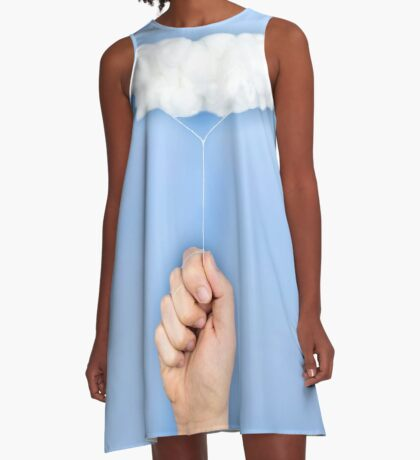 Mein Wolkenballon A-Linien Kleid